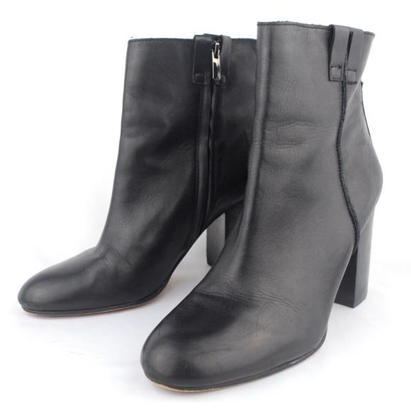 aa8188cc1 Sam Edelman Women s Fairfield Black Leather Boots.  M 5ad6d91af9e501a1ec4c8274